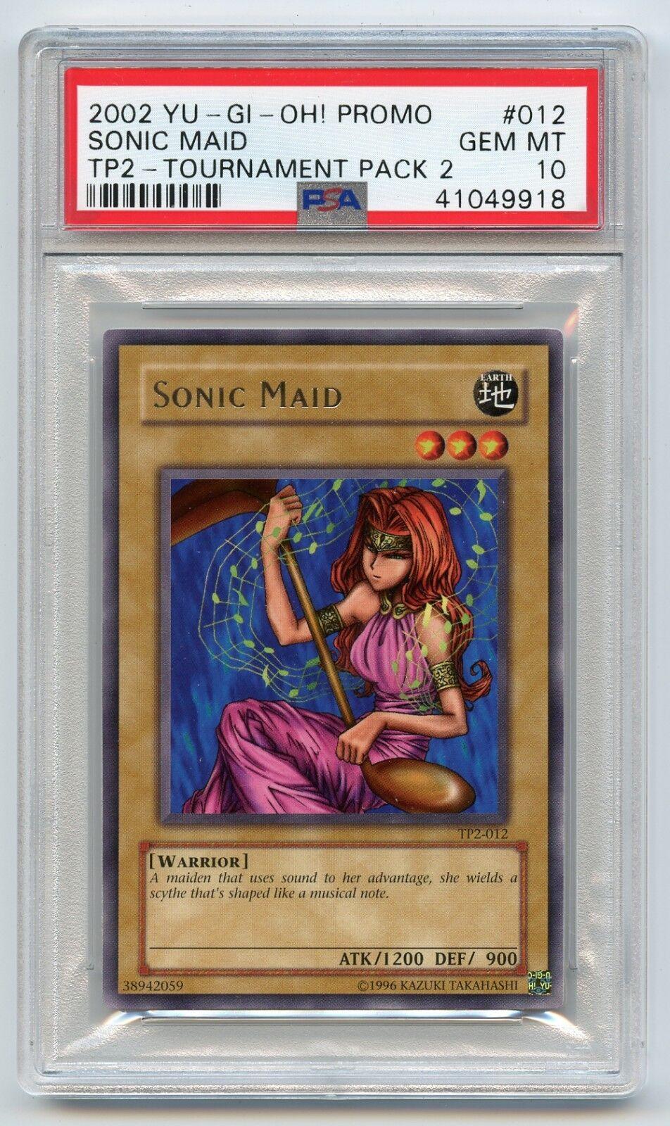 2002 Yu-Gi-Oh torneo torneo torneo Pack 2 Sonic Maid TP2-012 Profesional autenticador de deportes 10 Gema Menta Raro 5bcfe9