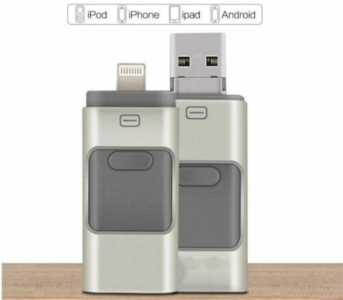 New 128//256//512GB 3 in 1 OTG USB Memory Flash Drive Pendrive For Android iPhone