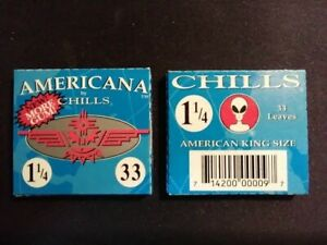 Chills-Americana-1-1-4-Hemp-Rolling-Papers-TWO-PACKS-33-leaves-a-pack