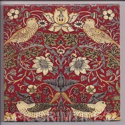 Metric Porcelain Tiles William De Morgan Hares Red Wall Floor Kitchen Bathroom