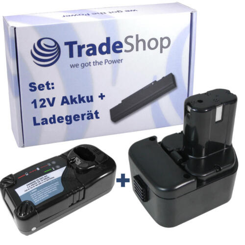Chargeur pour Hitachi wr12dm wr12dm2 wr12dmr 2in1 set Batterie 12v 3000mah ni-MH