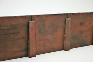 4 Sections Detailed Model Railway Brown Retaining Wall 04