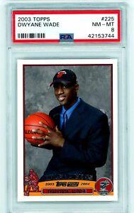 DWYANE-WADE-2003-04-Topps-Rookie-Card-RC-PSA-8-NM-MT-225-Miami-Heat