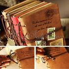 PU Leather Bound Blank Pages Journal Diary Notebook Sketchbook Retro Vintage