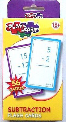 Bambini/kids Play & Learn Sottrazione Schede Flash - 56 Carte-s Play & Learn Subtraction Flash Cards - 56 Cards It-it Mostra Il Titolo Originale Abbiamo Vinto L'Elogio Dai Clienti