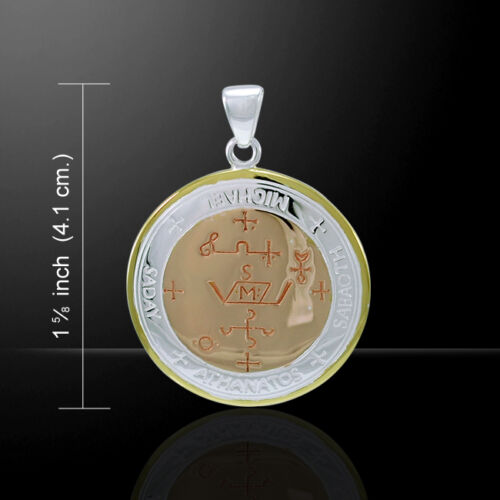 Sigil of the Archangel Michael Three Tone Pendant by Peter Stone