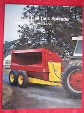 1982 Sperry New Holland 663 667 Amp 668 Flail Tank Spreaders 8 Page Brochure