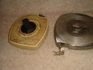 2-x-vintage-antique-tape-measures-bakelite-and-metal-retractable