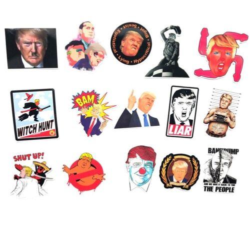 55pcs Trump Funny letters pasters Creative badge DIY sticker Cartoon style presi
