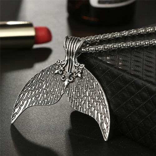 Vintage Bohemian Mermaid Tail Pendant Necklace Choker Bib Beach Jewelry Gifts JH