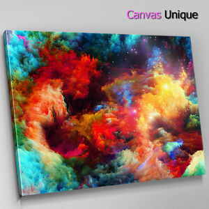 Details About Ab361 Trippy Colour Space Galaxy Abstract Canvas Wall Art Framed Picture Print