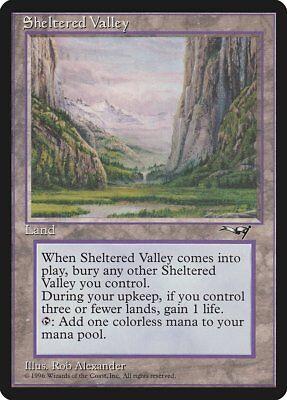 Sheltered Valley Alliances NM Land Rare MAGIC THE GATHERING MTG CARD ABUGames