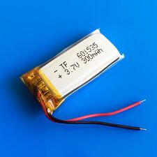 3.7v 300mAh lipo battery 601535 for mp3 mp4 DVD GPS headphone bluetooth