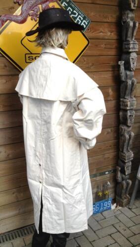 S 36 polvo Duster Cabálgala cochero Western algodón australia abrigo Bone crema