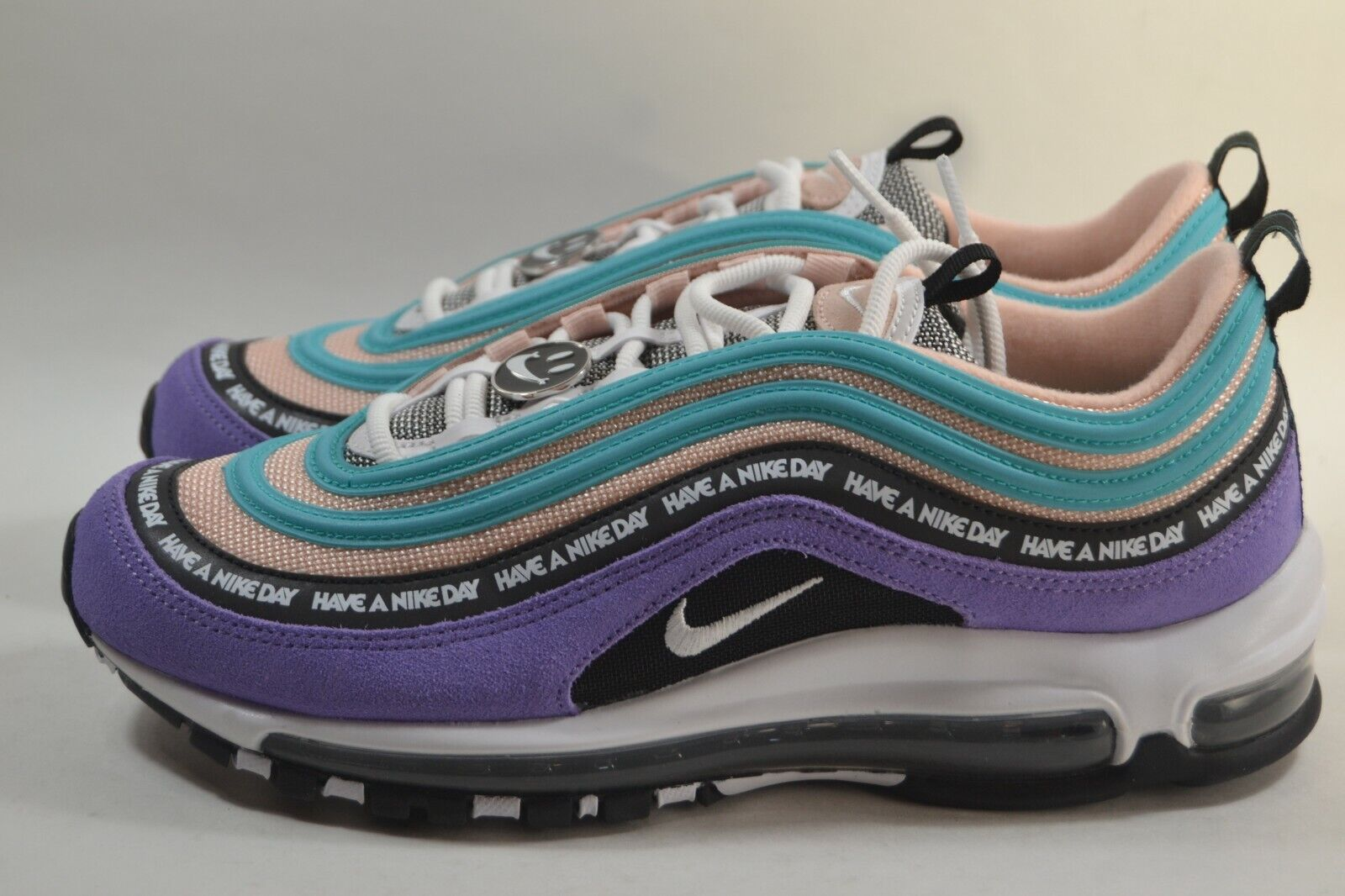info for ec30a 77619 New Mens Nike Air Max 97 Have a Day PURPLE WHITE-BLACK ...