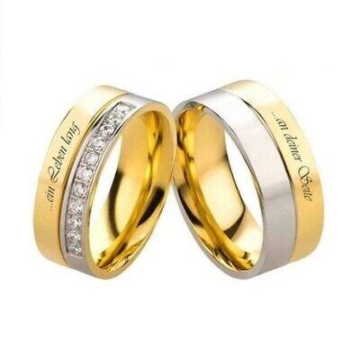 Verlobungsringe Freundschaftsringe Eheringe Trauringe Spruch Silber Gold Gravur   eBay