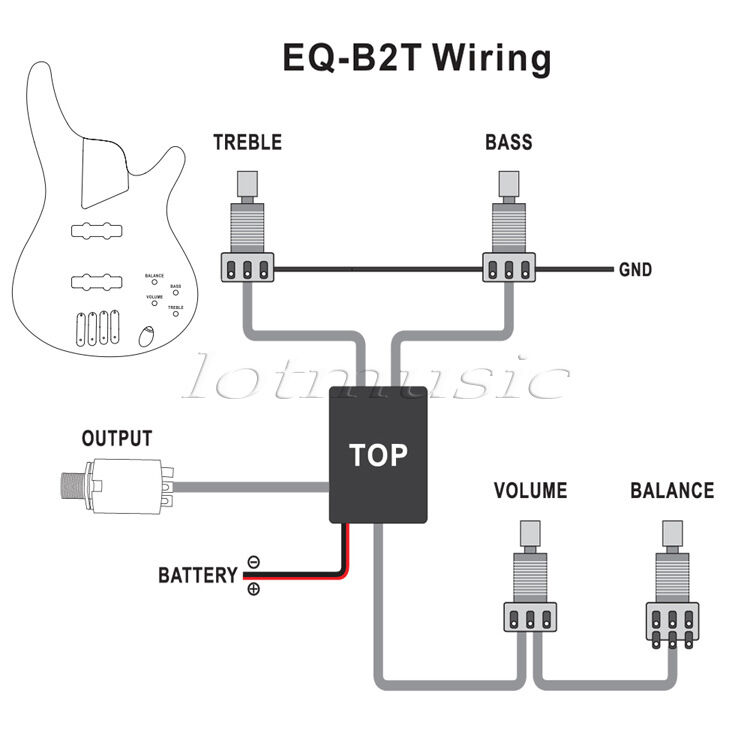 10 Set Belcat 2 Band Active Eq Preamp Circuit For Bass Pickup Wiring Harness 634458220217