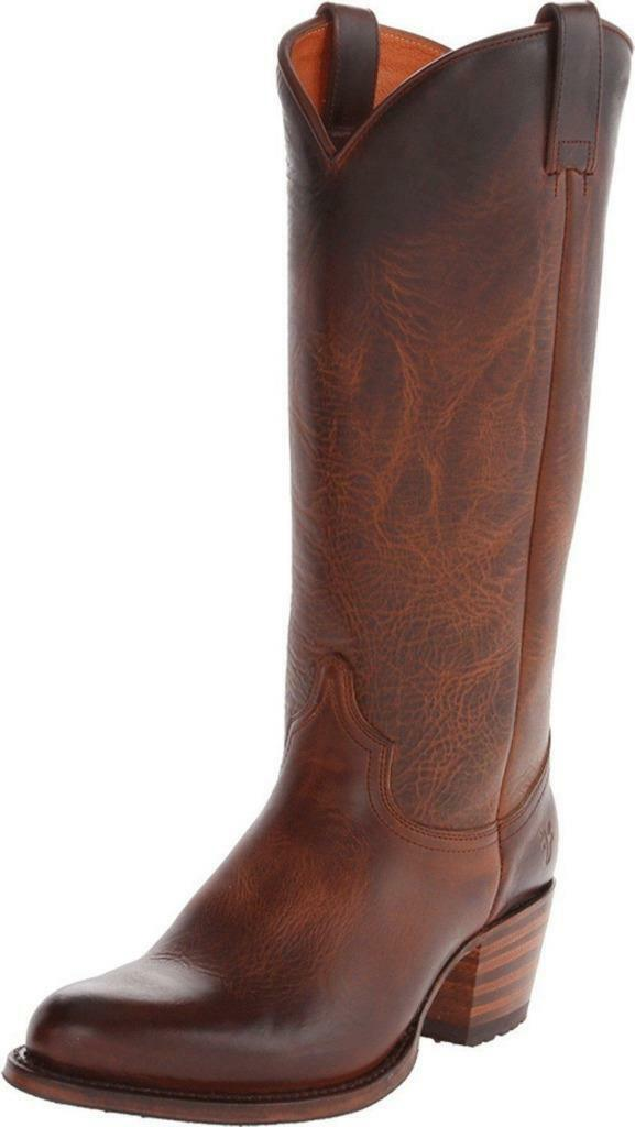 New in Box - $628 FRYE Deborah Lug Tall Redwood Leather Boots Size 6.5