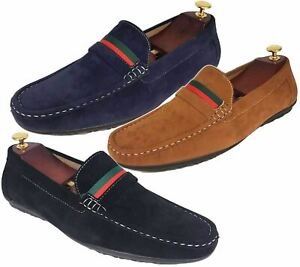 Mens-Loafers-Mocassin-Boat-Deck-Shoes-Flat-Slip-On-Driving-Casual-Smart-Pumps