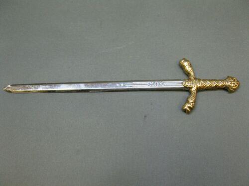 Luxus Brieföffner R.Löwenherz   25 cm Metall mit   Messing Griff