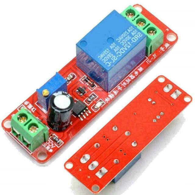 DC 12V Relay Module Adjustable Delay Time 0-10 Second NE555 Board Timer T0G3