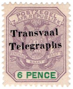 I-B-Transvaal-Telegraphs-6d-Overprint