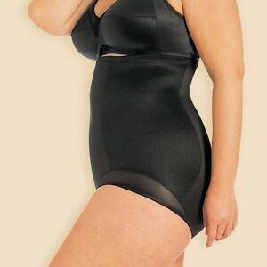 Miraclesuit Fuller Figure Hi Waist Brief Black Nude 2634 Control Shapewear  1XL
