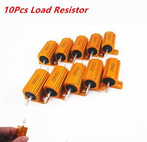 10PCS-Car-Load-Resistor-25W-8-Ohm-Fix-LED-Bulb-Fast-Flash-Turn-Signal-Blink