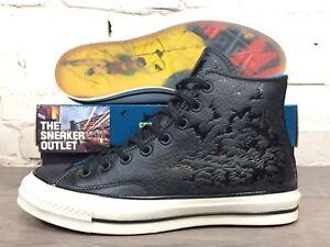 NUOVO Converse Chuck Taylor Hi Top Batman DC Sneaker UK 10.5 Pelle Nera