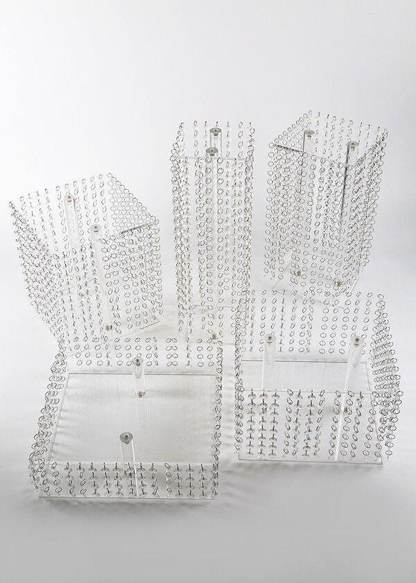 À secteurs Support Support mariage 5 étages Acrylique Cristal Deco