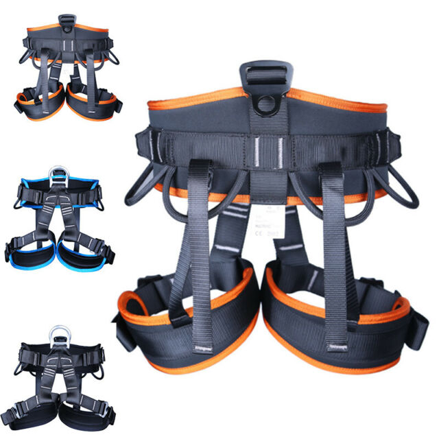 Outdoor Aerial Rescue Rock Tree Climbing Fall Protection Full Body Harness