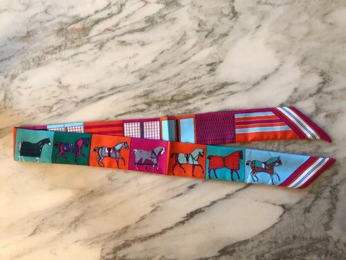 Tuch Bandeau Für Taschenhenkel Taschenanhänger Pferde Rodeo Türkis Orange Neu
