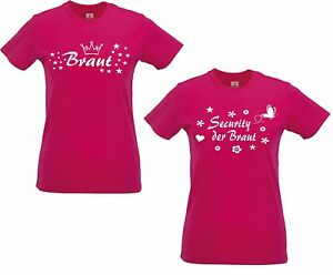 Lady Shirt Damen T Shirt Pink Security Der Braut