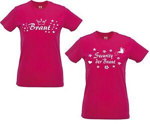 lady shirt damen t shirt pink security der braut junggesellinnenabschied f r jga. Black Bedroom Furniture Sets. Home Design Ideas