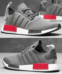 3edcf6812d9cb Adidas NMD R1 Sneaker Men s Lifestyle Shoes Grey Shocked Red