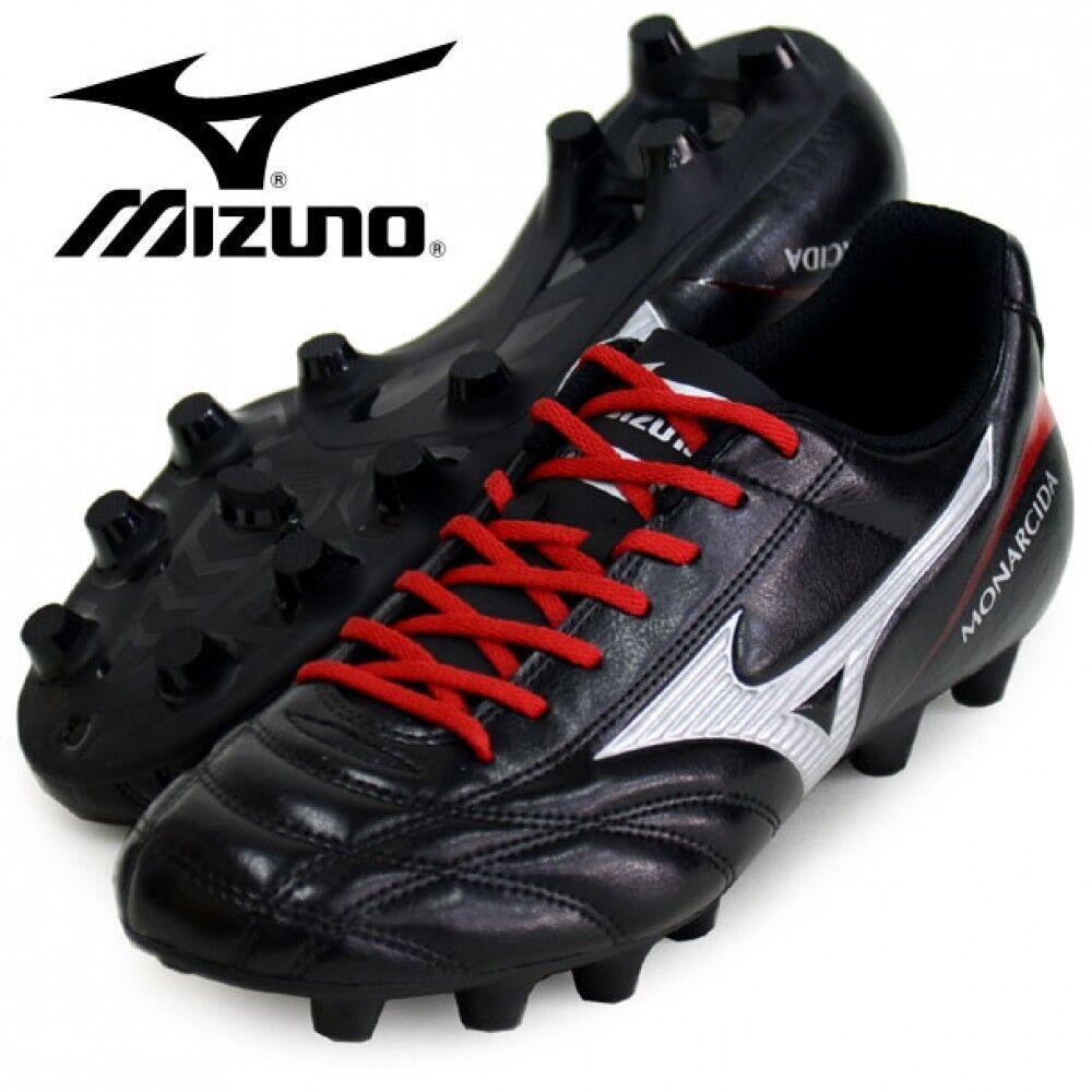Mizuno monarcida 2 FS MD Zapatos de fútbol de ancho P1GA1723 Negro Con Seguimiento