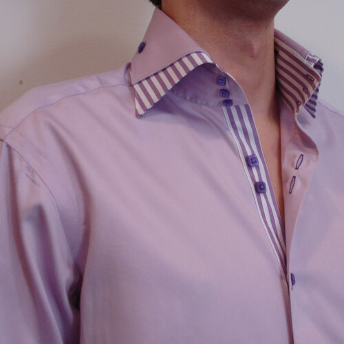 Now:£49 High Quality Shirt in Lilac CLAUDIO LUGLI Italy