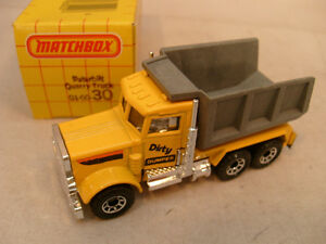 1981-MATCHBOX-LESNEY-SUPERFAST-30-PETERBILT-DUMP-QUARRY-TRUCK-DIRTY-DUMPER-MIB