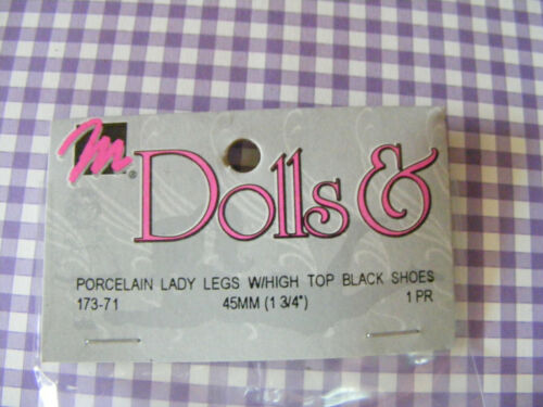 """NEW-IN PKG.-No Tags 1  15//16/"""" Long Porcelain Doll LEGS knee w// feet /& shoes"""