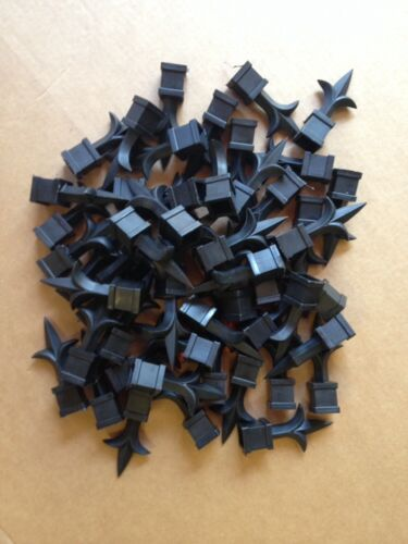 Lot of 50 Black Plastic  3//4 inch picket fence finials