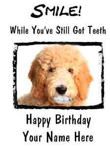 Goldendoodle-Dog-Happy-Birthday-Card-Smile-Teeth27-A5-Personalised-Greetings