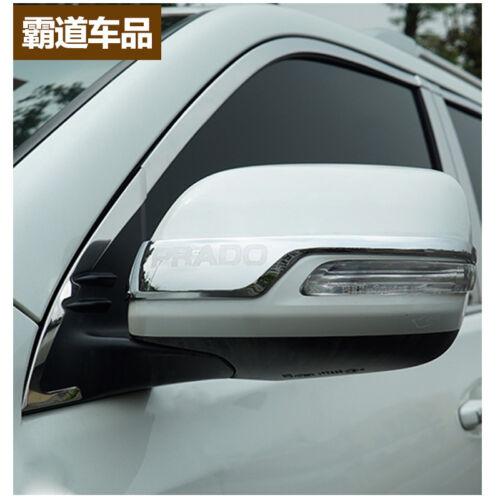 ABS Rearview Side Mirror Strip Cover Trim For Toyota Prado FJ150 2010-2018