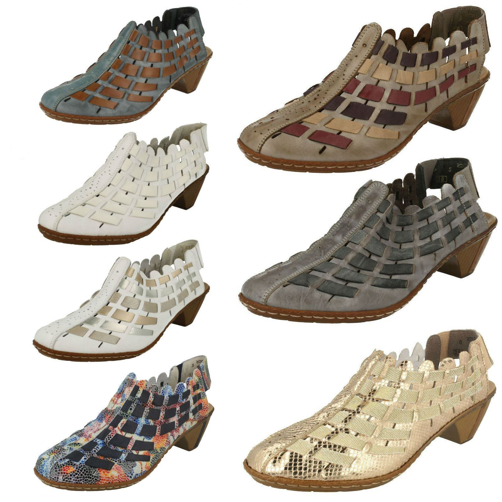 Womens Rieker Sling Back shoes With Woven Detail '46778'