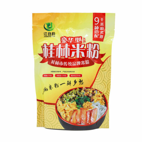 Instant Rice Noodles Snacks China Food Mifen中国食品小吃广西桂林特产 江合韵桂林米粉水煮卤水米线270g//袋