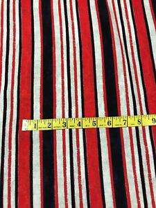 *NEW* Georgette Polyester Multicolour Striped Print Dress//Craft Fabric*FREE P/&P*