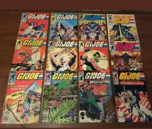 VINTAGE-lot-of-12-G-I-JOE-comic-books-by-MARVEL-COPPER-AGE-Yearbook-Tales-of