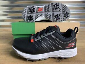 Skechers-Go-Golf-Blaster-Boys-Golf-Shoes-Black-Red-Youth-SZ-99981-NEW