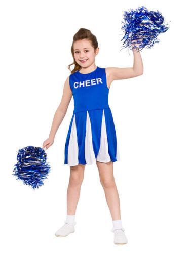 Le Ragazze Cheerleader Costume Blu Bambini Costume Bambini High School Vestito 3-13