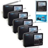 5pcs Full Band Fm Stereo/mw /sw Dsp Radio World Band Receiver Tv Sound Alarm Us