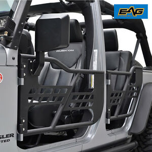 Image is loading 07-18-Jeep-Wrangler-JK-Unlimited-4-Door- & 07-18 Jeep Wrangler JK Unlimited 4 Door Only Safari Steel Tube Doors ...